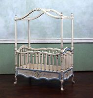 Charming Miniature Dollhouse Furniture By JIAYI Belmont Nursery Crib 1/12 1:12 Scale  New