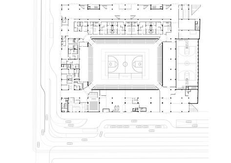 Gallery Of Multifunctional Sports Hall Dico Si Tiganas 38 Sport Hall Sports Complex Hall