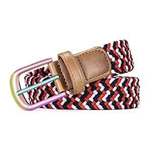Belt For Women,Bulliant Womens Woven Stretch Belts Elastic Braided 1 1//8 Multicolors.