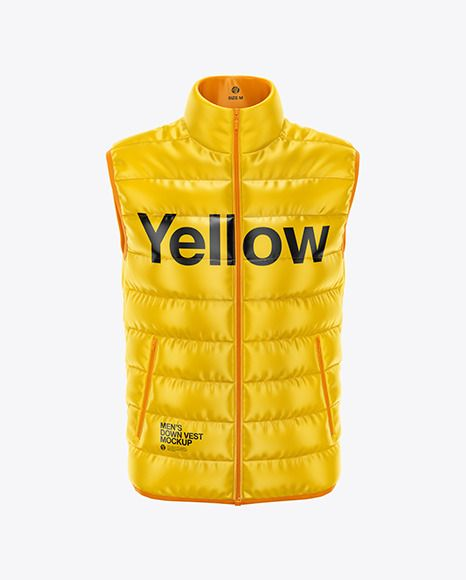 Download Men S Down Vest Mockup Front View In Apparel Mockups On Yellow Images Object Mockups Mens Down Vest Clothing Mockup Shirt Mockup