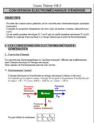 Cours Conversion Electromecanique D Energie