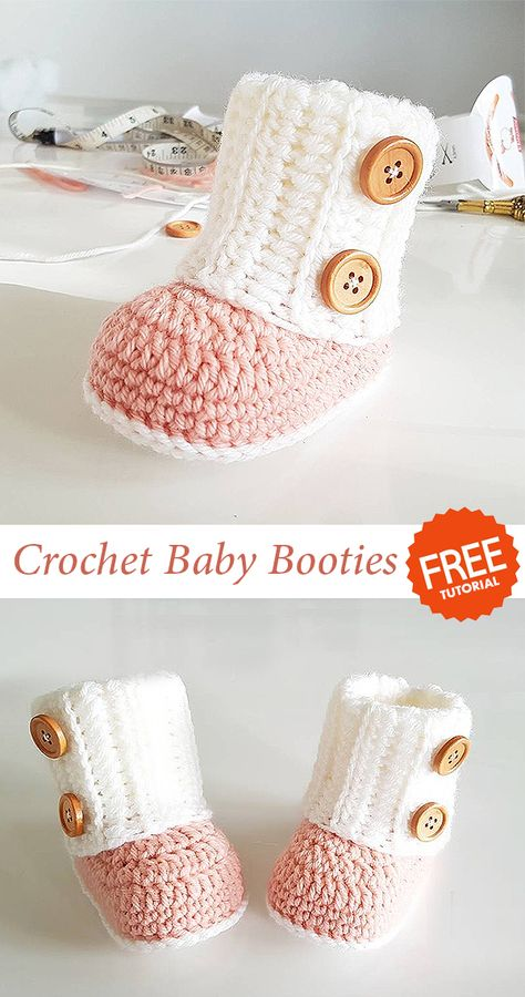 Baby Shoes Booties Boots Crochet