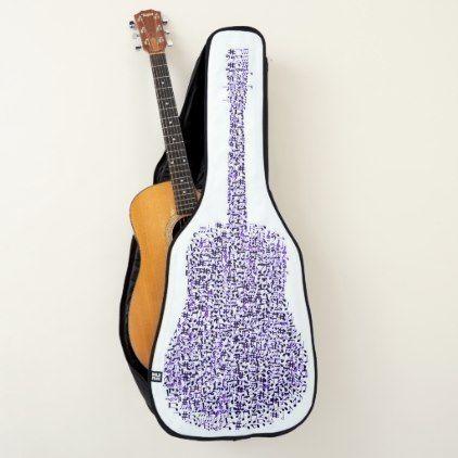 Music Design For Acoustic Guitar Bag Case Guitar Case Zazzle Com Guitar Kids Guitar Bag Music Design