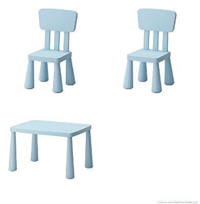 mammut chaise enfant bleu clair lot