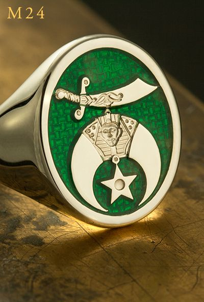 Shriners Oasis Cut Out Car Emblem in Green