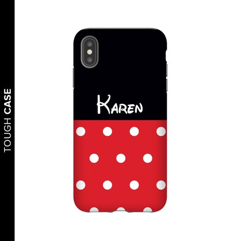 Red Polka Dot Personalised Phone Case for iPhone and Samsung