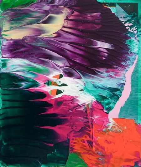 I can't stop looking at these color-rich abstract oil paintings by Theo Altenberg. Theo Altenberg is a multitalented artist/performer/singer living and working