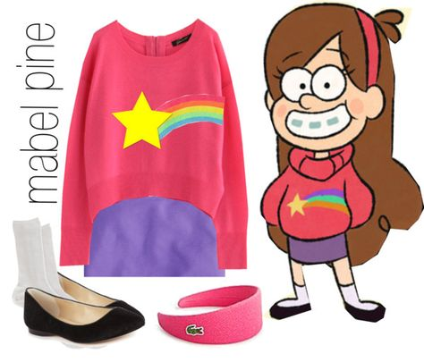 """""""mabel, gravity falls"""" by simmaaay ❤ liked on Polyvore"""