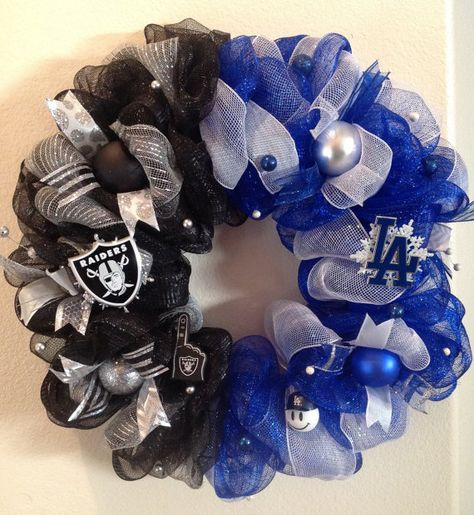 Mlb Oakland Raiders / Los Angeles Dodgers Deco by SportsLovers