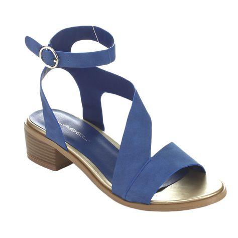 610b0d4c40 C Label Trisoli-5 Women's Ankle Strap Chunky Heel (Navy - 7.5), Blue ...
