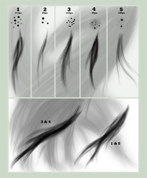 Digital Painting Hair Brushes Free Download