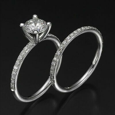 Pin On Cz Moissanite And Simulated Engagement Wedding Ring Sets
