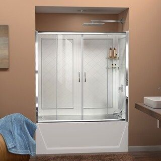 Dreamline Visions 56 60 In W X 60 In H Sliding Tub Door And