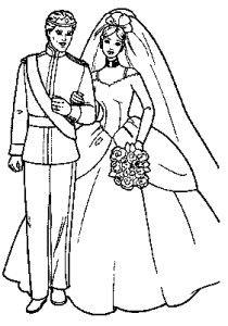 Top25 Ausmalbilder Barbie Coloring Pages Barbie Coloring Wedding Coloring Pages