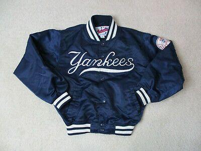 Vintage Starter New York Yankees Jacket Youth Medium Blue Baseball Satin Kid 90s Yankeespinstripes Yank New York Yankees Shirt Kids Bomber Jacket Cubs Shirts