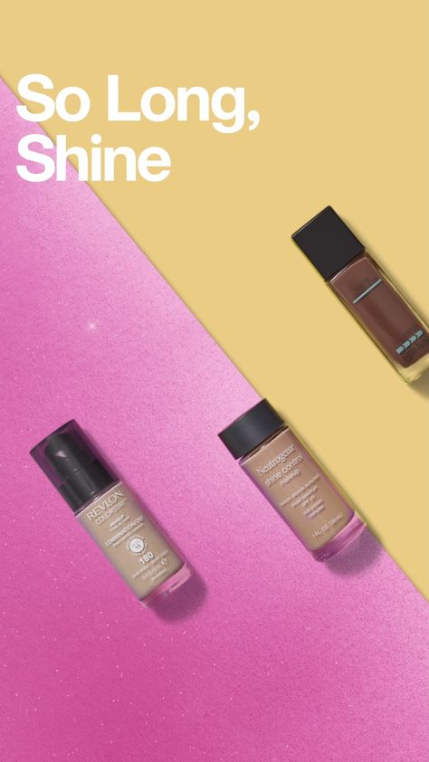 Explore foundations with oil-absorbing, shine-controlling formulas.