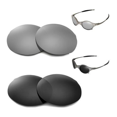 0c48f576aa Walleva Polarized Titanium + Black Replacement Lenses for Oakley Mars  Sunglasses