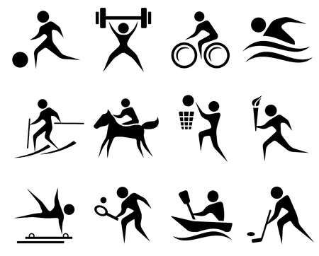 Sport Icon Set Sport Icon Stick Figure Drawing Icon Set