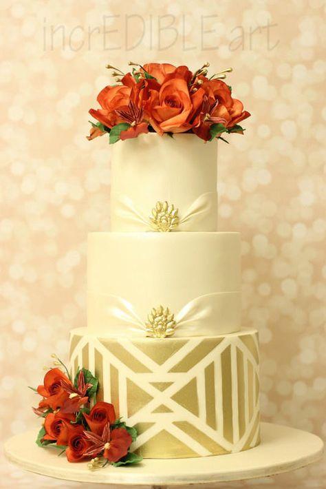 """Rendition of True Love""-Wedding Cake - Cake by Rumana Jaseel"