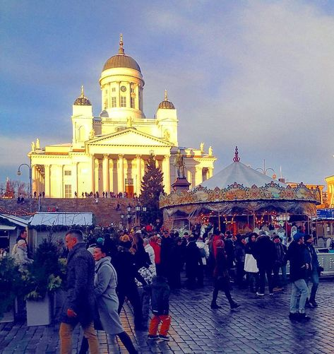 merrychristmas .. a glowing Helsinki...