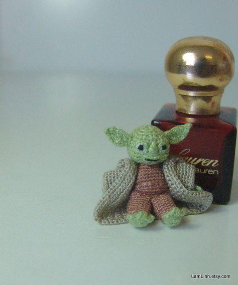 Micro amigurumi doll Sleeping Butterfly. Tiny doll. Crochet | Etsy | 568x474