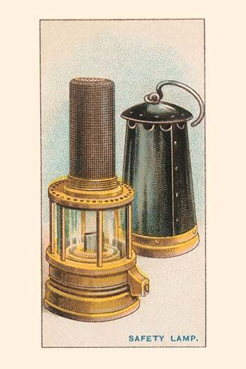 Safety Lamp Art Print In 2020 Hand Painting Art Brown And Grey Coal Mining