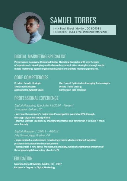 How To Design Digital Marketing Specialist Resume Click For More