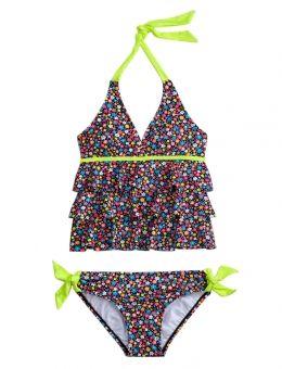 19011d12b86 Multi-color Flower Tankini Swimsuit
