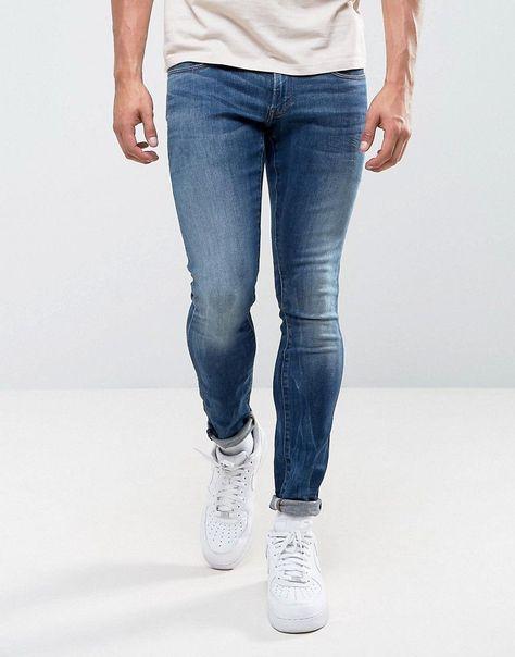 1a64681724c G-Star 3301 Deconstructed Super Slim Jeans Medium Indigo Aged Wash - N