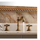 Classic Antique Brass Bathroom Basin Faucet Widespread Vanity Sink Mixer Tap