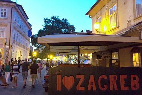 A Travel Guide To Zagreb Croatia Tkalciceva Street At Night Croatia Travel Croatia Croatia Travel Guide