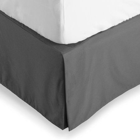 Bare Home Bed Skirt Double Brushed Premium Microfiber 15 Inch