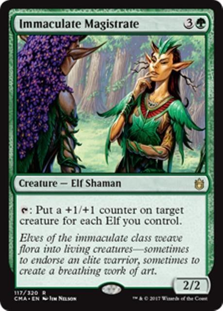 4 x ELF WARRIOR TOKEN NM mtg Commander Anthology Green Creature Token Com