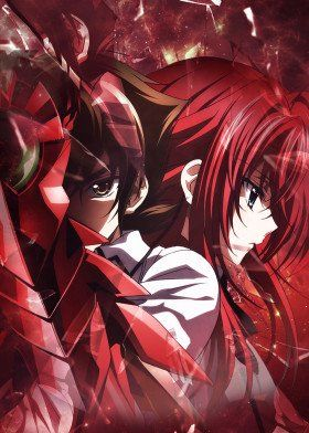 High School Dxd Poster By Joshua T Wall Displate Highschool Dxd Anime High School Dxd