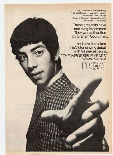 Graham Gouldman 1968 Rca Promo Advert For The Impossible Years He Is The Genius Behind Mod Group The Mockingbirds As Vinyl Music Music Music Appreciation
