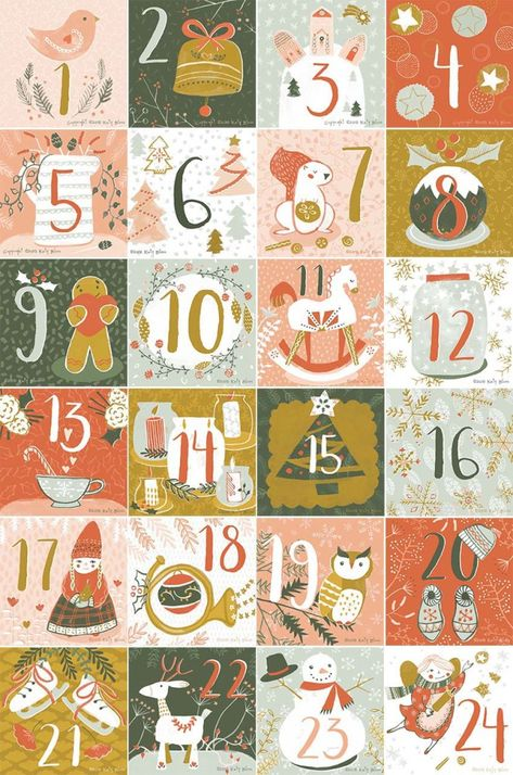 Illustrated Advent Calendar Round Up Illustration Noel