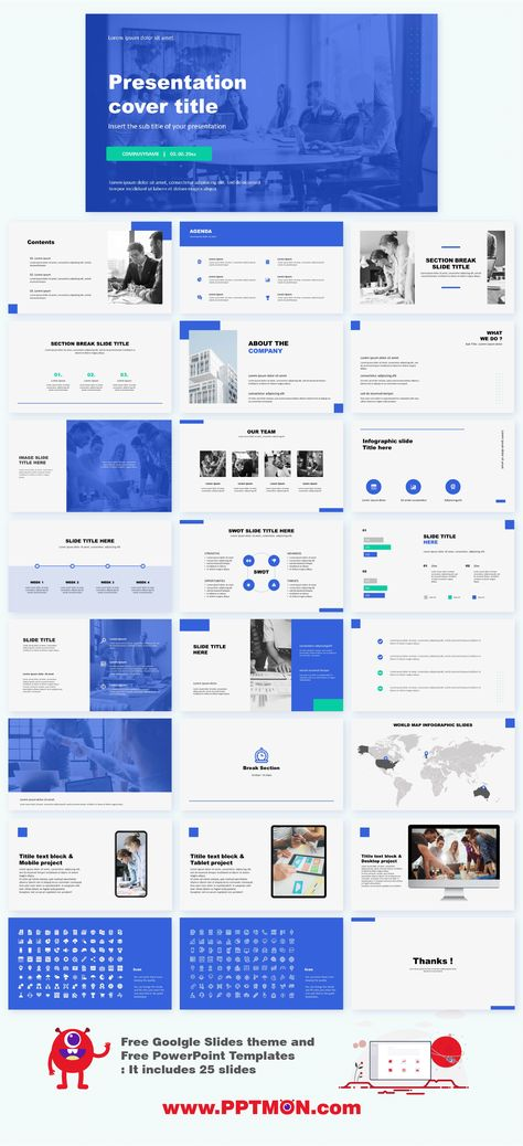 Business Free PowerPoint Template Google Slides Theme