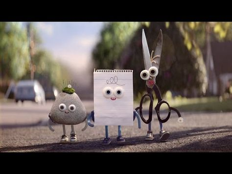Longtime rivals rock, paper, and scissors come together in a new commercial for Android. Rock, Paper and Scissors don't have much in common, but that