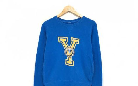 0c326fa33 Yale University Crewneck Sweatshirt Big Spell Out Pullover / Fashion Style  / University Wears / Urba