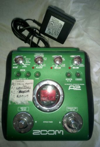 Zoom A2 Acoustic Guitar Effects Pedal Battery Or Psu Great Condition Guitar Effects Pedals Effects Pedals Acoustic Guitar