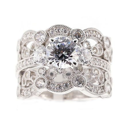 Buy Womens 1 4 Ct T W Genuine Round White Diamond 10k Gold Engag Sterling Silver Cz Rings Cubic Zirconia Rings Sterling Silver Vintage Style Engagement Rings