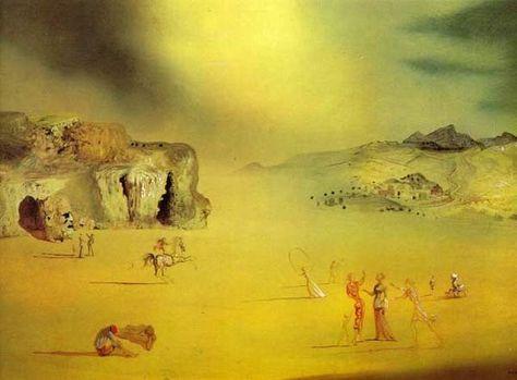 1937 Salvador Dali - Typowy pejzaż pogański