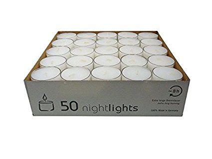 Wenzel Kerzen 23 217 50 Uk Nightlights Lot De 50 Bougies Avec