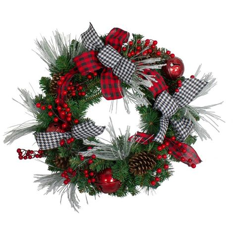 Artificial Christmas Wreaths, Christmas Mesh Wreaths, Christmas Door Decorations, Holiday Decor, Church Decorations, Door Wreaths, Country Christmas, Christmas Crafts, Christmas Ornaments
