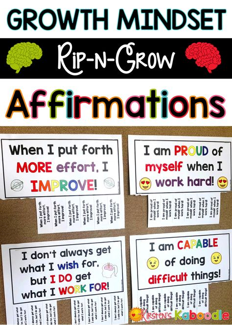 Growth mindset posters rip n grow affirmations tpt misc lessons growth mindset affirmation posters for your bulletin board now come in rip n grow format take what you need glue them in an interactive notebook altavistaventures Gallery
