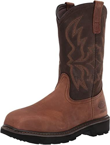 Dickies Mens Stockyard Pull on Steel Toe Eh Construction Boot
