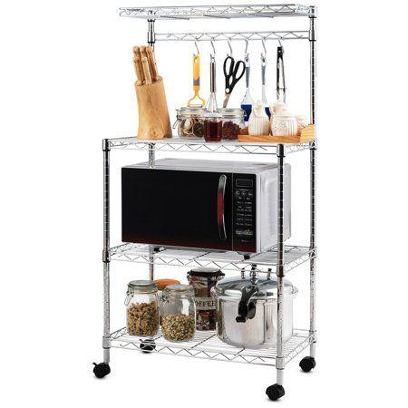 Home Kitchen Storage Cart Dinning Room Furniture Adjustable