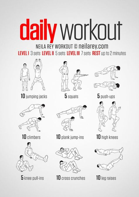 A simple no-equipment workout for every day: nine exercises
