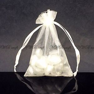 50 100 Organza Sheer Wedding Party Favour Xmas Gift Bags Candy Jewellery Pouch Ebay Candy Jewelry Wedding Party Favors Gift Bags