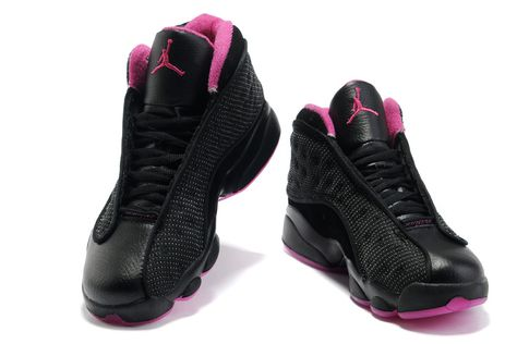 separation shoes 6852e bf49b Womens Air Jordan 13 Black Pink Shoes | fav kicks | Nike shoes cheap ...